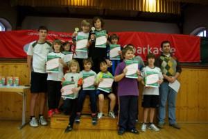 Die Teilnehmer der Mini-Meisterschaften 2011 TTSV Kenzingen